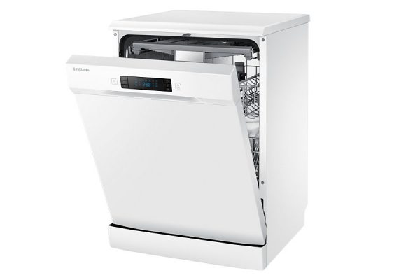 """24"""" Free Standing Dish Washer, DW60H6050FW, 14 sets, White colour-0"""